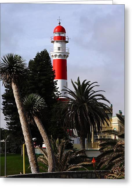 West Africa Greeting Cards - Swakopmund Lighthouse - Namibia Greeting Card by Aidan Moran