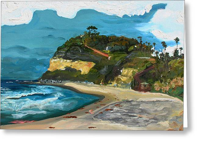 Demaree Greeting Cards - Swamis Beach Greeting Card by Joseph Demaree