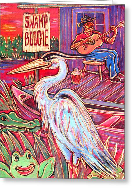 Ponz Greeting Cards - Swamp Boogie Greeting Card by Robert Ponzio