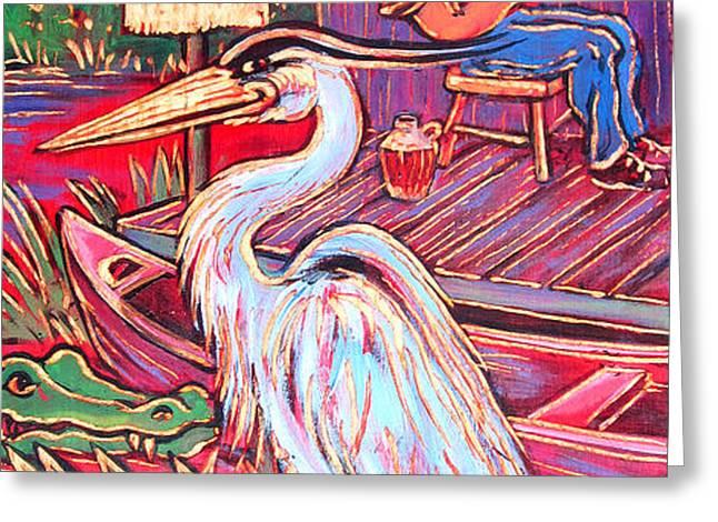 Swamp Boogie Greeting Card by Robert Ponzio