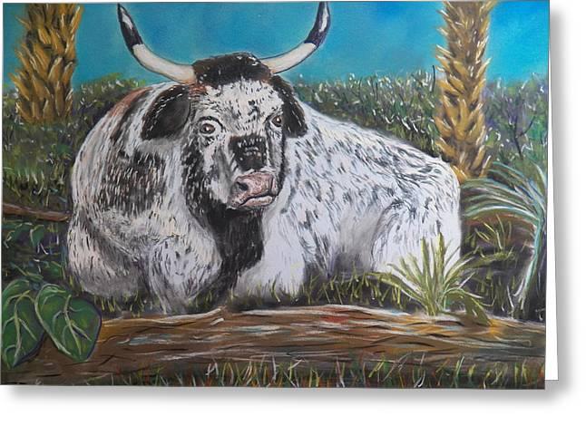 Swamp Bull Greeting Card by Richard Goohs