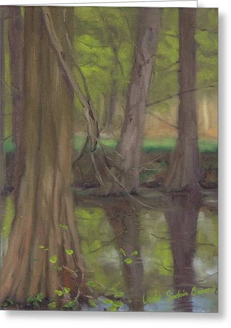 Paysage A L Greeting Cards - Swamp cypress - Cypres chauves Greeting Card by David Ormond