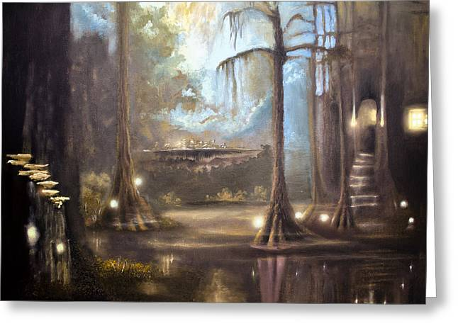 Swampland Greeting Cards - Swamp Life Greeting Card by Melissa Herrin