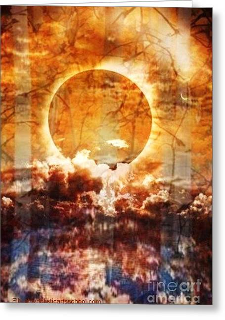 Book Cover Art Mixed Media Greeting Cards - Swamp Moon Greeting Card by PainterArtist FIN
