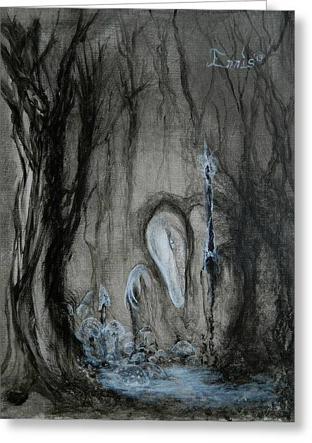 Fungi Paintings Greeting Cards - Swamp Shaman Greeting Card by Christophe Ennis