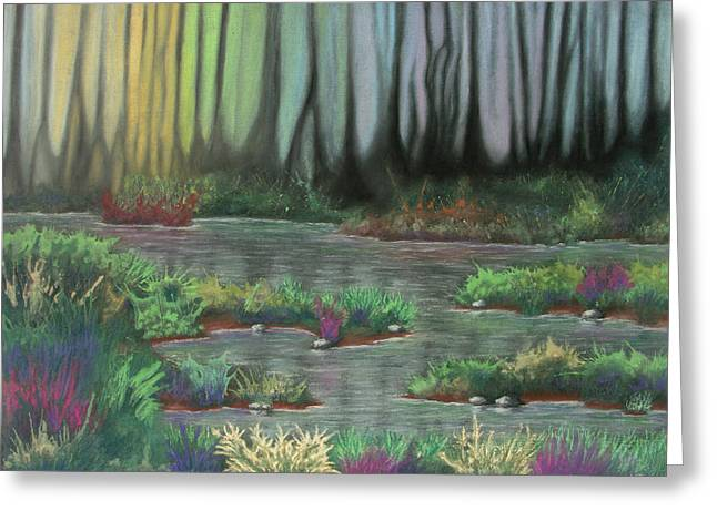 Weed Pastels Greeting Cards - Swamp Things Greeting Card by Michael Heikkinen