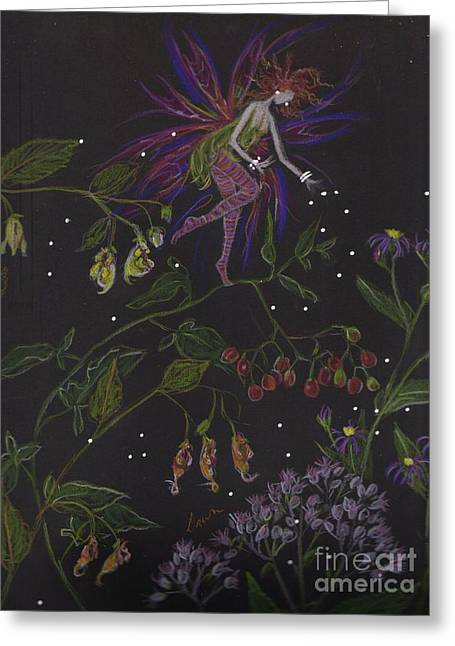 Aster Drawings Greeting Cards - Swamp Walk Greeting Card by Dawn Fairies