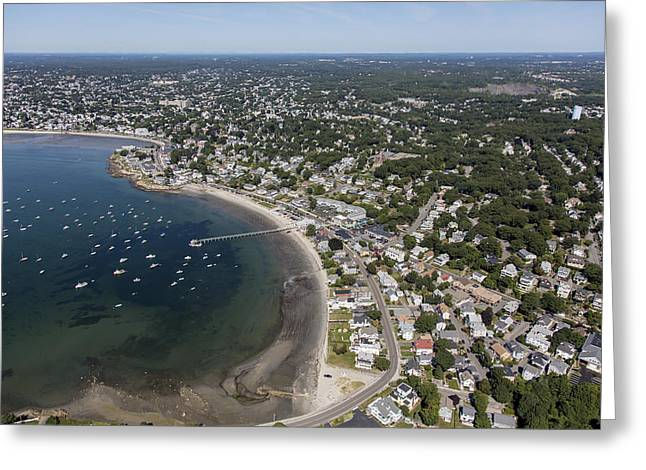 Oblique Greeting Cards - Swampscott, Massachusetts Ma Greeting Card by Dave Cleaveland