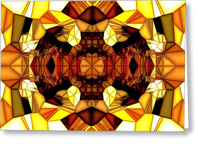 Geometric Style Greeting Cards - Swan Lake Greeting Card by Digital Me