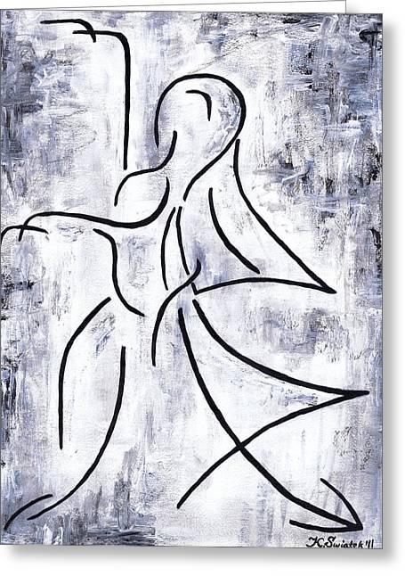 Dancing Girl Greeting Cards - Swan Lake Greeting Card by Kamil Swiatek
