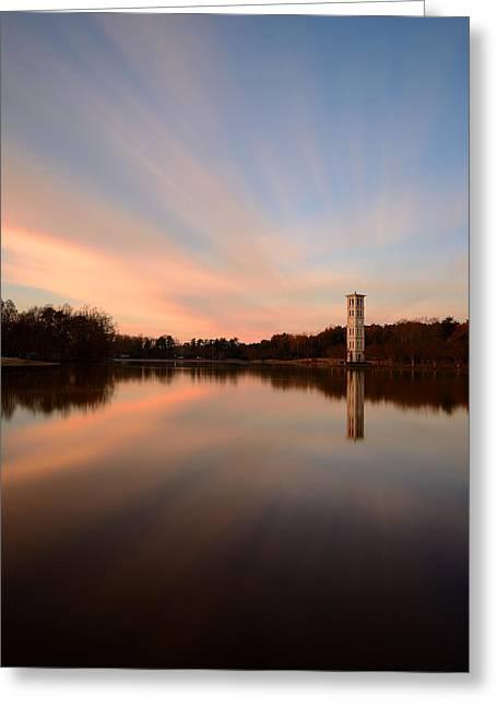 Furman Greeting Cards - Swan Lake Sunrise Furman University  Greeting Card by Johan Hakansson