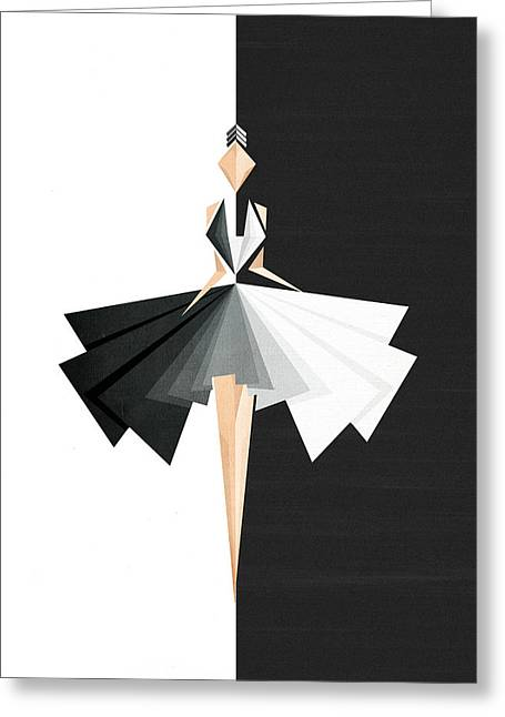 Fashions Greeting Cards - Swan Lake Greeting Card by VessDSign