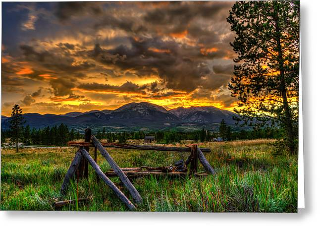 Adventure Greeting Cards - Swan Mountain Sunset Greeting Card by Michael J Bauer