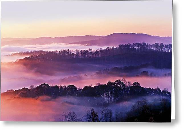 Layer Greeting Cards - Swan Ridge at Sunrise Greeting Card by Marcia Colelli