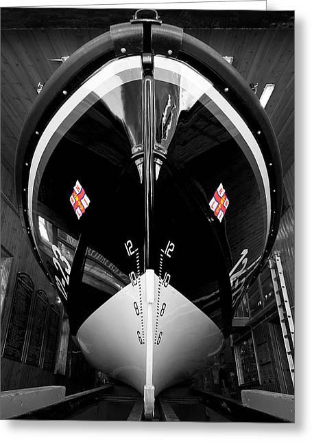 Swanage Lifeboat Greeting Card by Kris Dutson