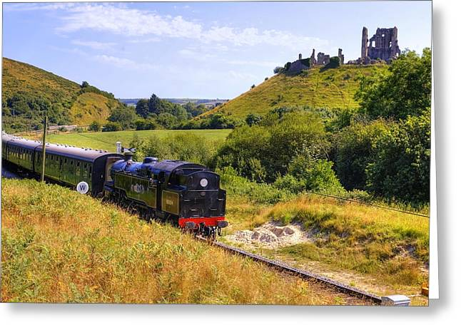 Fortification Greeting Cards - Swanage steam railway Greeting Card by Joana Kruse