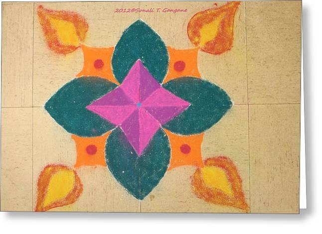 Flames Pastels Greeting Cards - Swarna Jyot Greeting Card by Sonali Gangane