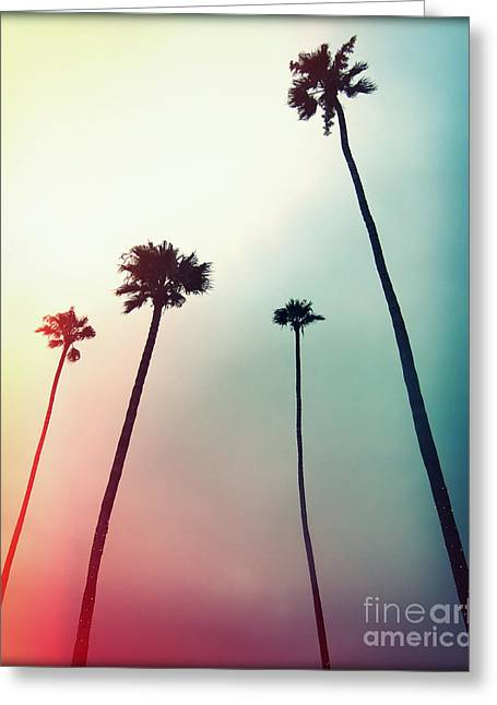 Florida Flowers Greeting Cards - Sway Away Palms IIII Greeting Card by Chris Andruskiewicz