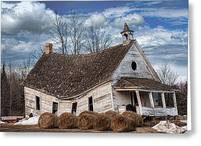 Sway Back School House Greeting Card by Paul Freidlund