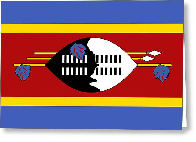 Dellos Greeting Cards - Swaziland Swazi National Flag Greeting Card by Tigerlynx Art