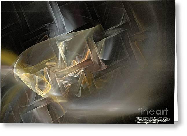 Geometric Digital Art Greeting Cards - Sweat Greeting Card by Dana Haynes