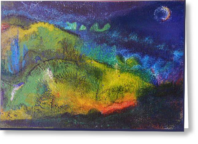 Sweat Lodge Night Greeting Card by Tolere