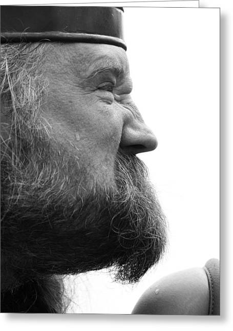 White Beard Greeting Cards - Sweat That Met Greeting Card by Jerry Cordeiro