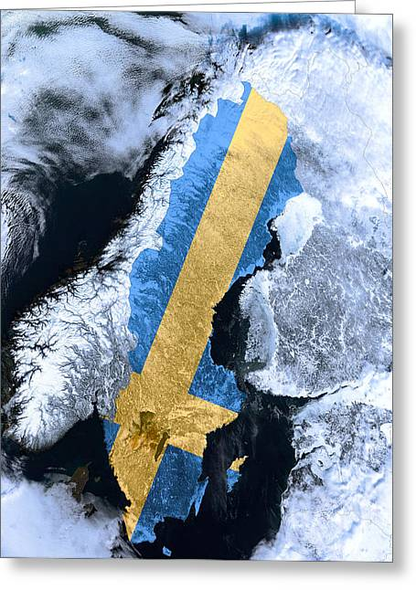 Europe Mixed Media Greeting Cards - Sweden Pride Greeting Card by Daniel Hagerman