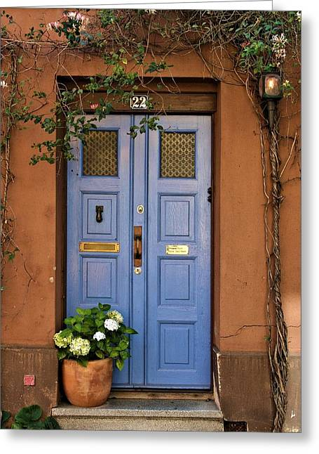 Tuer Greeting Cards - Swedish Door Greeting Card by Emma Motte