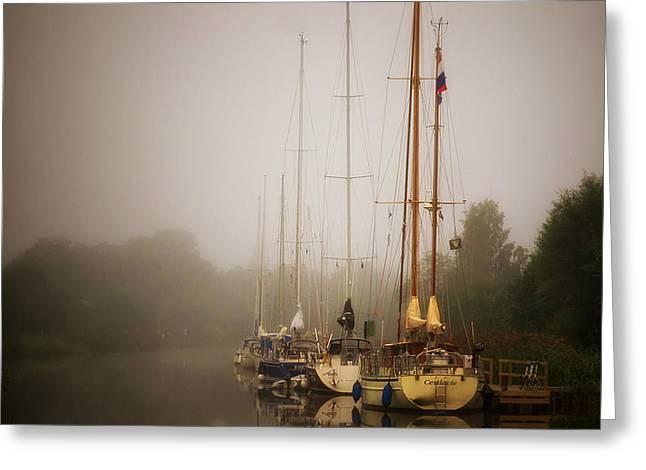 Tall Ship Greeting Cards - Swedish Fog Bank Greeting Card by Pixabay
