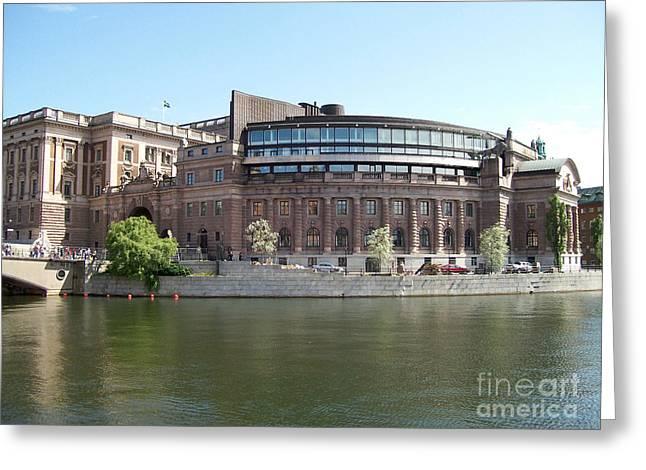 Delegate Greeting Cards - Swedish Parliament 02 Greeting Card by Antony McAulay