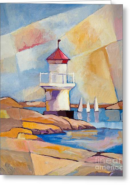 Sweden Greeting Cards - Swedish Summer Greeting Card by Lutz Baar