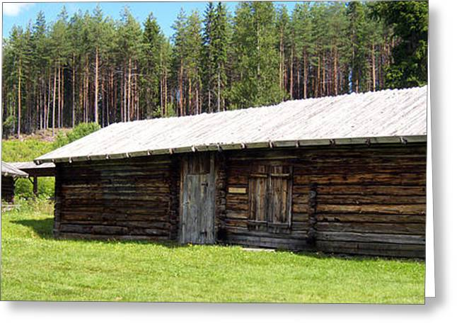 Wooden Building Greeting Cards - Swedish Timber Buildings Greeting Card by Mountain Dreams