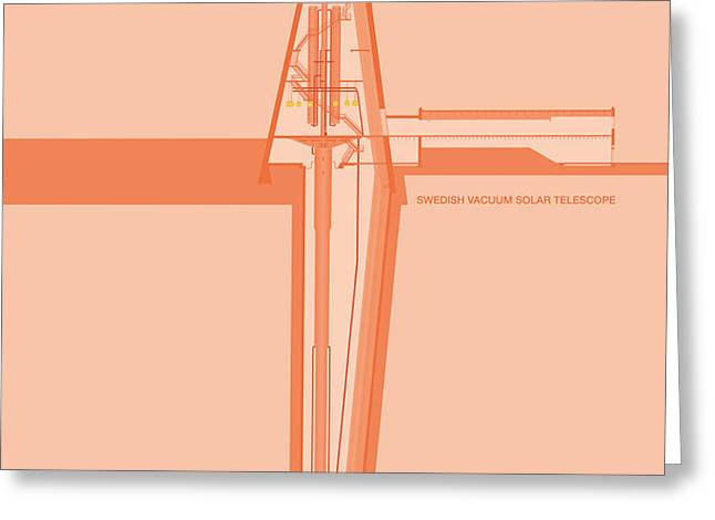 Swedish Vacuum Solar Telescope Greeting Card by Peter Cassidy