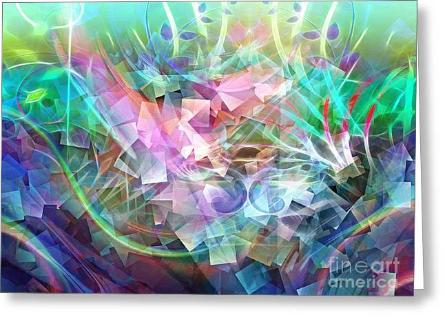 Abstract Digital Mixed Media Greeting Cards - Sweep Color Greeting Card by Artwork Studio