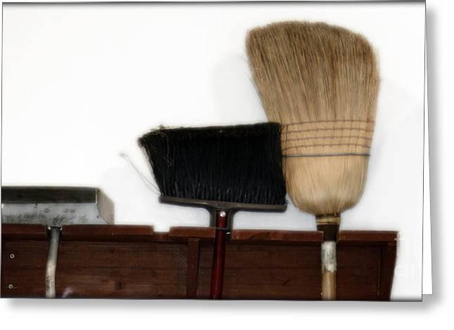 Broom Broom Greeting Cards - Sweeping Beauty  Greeting Card by Steven  Digman
