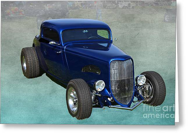 Ford Model T Car Greeting Cards - Sweet 1933 Ford Coupe Greeting Card by Luther   Fine Art