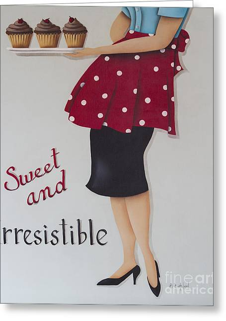 Catherine Greeting Cards - Sweet and Irresistible Greeting Card by Catherine Holman