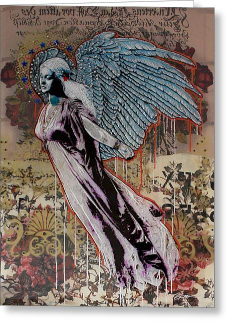 Graffitti Art Greeting Cards - Sweet Angel Greeting Card by Gary Kroman