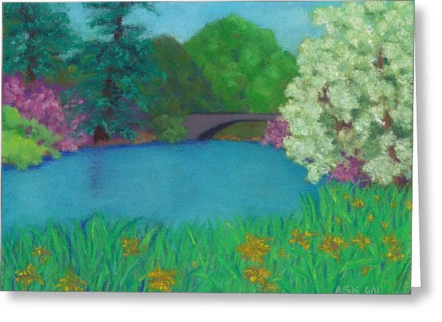 Mt Pastels Greeting Cards - Sweet Auburn Greeting Card by Anne Katzeff