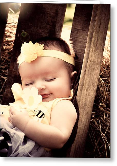 Sweet Baby Dreams Greeting Card by Chastity Hoff