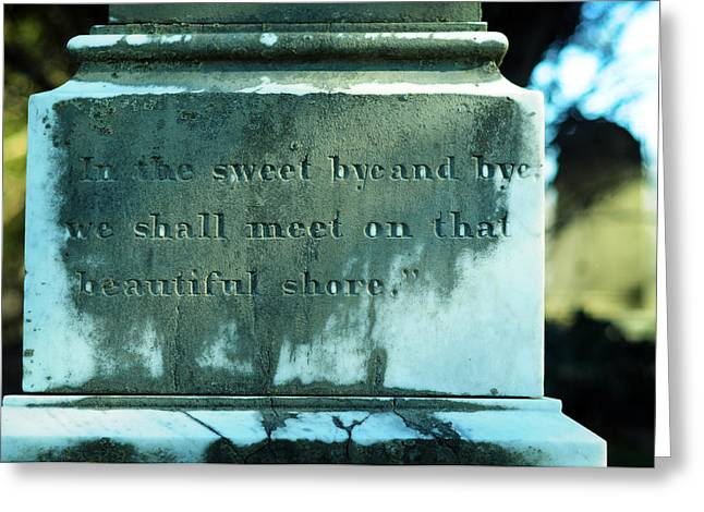 Headstones Greeting Cards - Sweet Bye and Bye Greeting Card by Rebecca Sherman