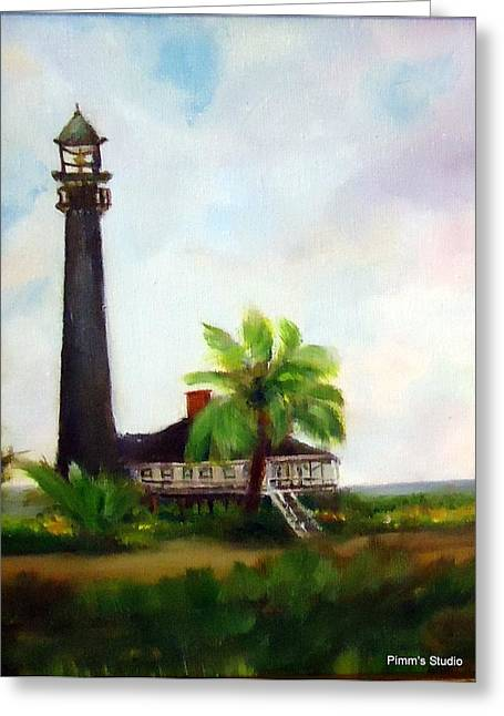 Sweet Charlie Lighthouse Greeting Card by Betty Pimm