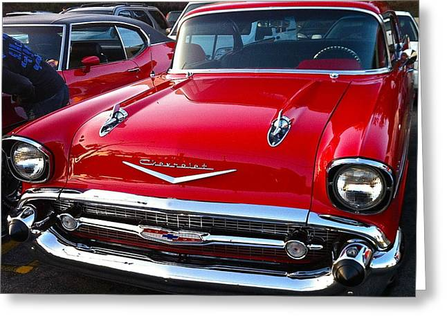 Grillwork Greeting Cards - Sweet Chevy Greeting Card by Denise Mazzocco
