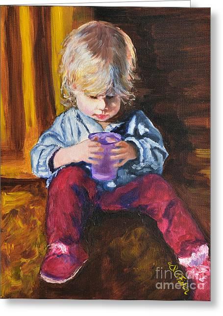 Sneakers Paintings Greeting Cards - Sweet Child of Mine III Greeting Card by Deborah Fisher
