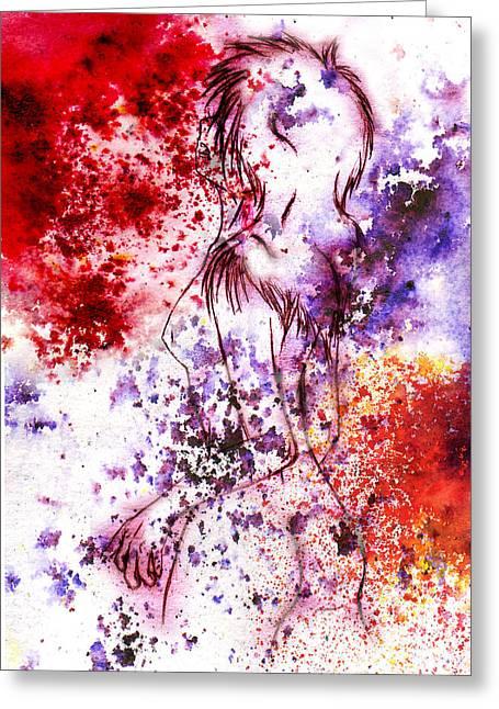 Rokon Chan Greeting Cards - Sweet death kiss Greeting Card by Rokon Chan