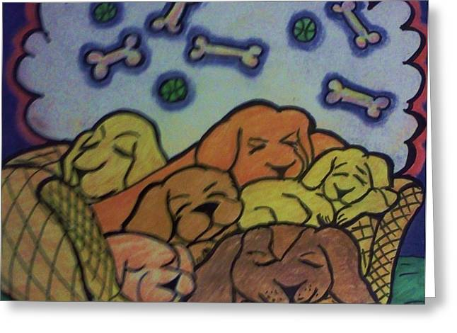 Sweet December Dreams Greeting Card by Christy Brammer