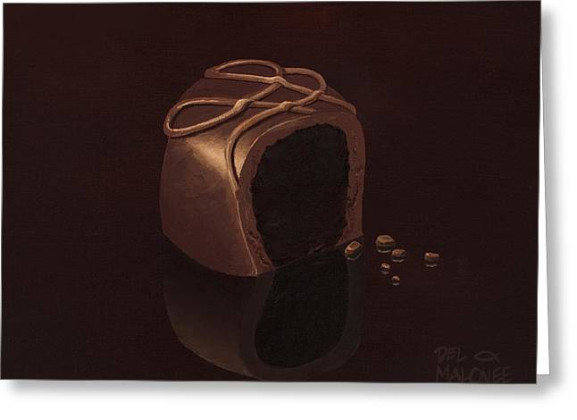 Candy Paintings Greeting Cards - Sweet Delight Greeting Card by Del Malonee