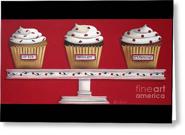 Catherine White Paintings Greeting Cards - Sweet Delights Greeting Card by Catherine Holman