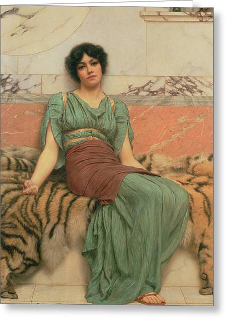 Victorian Photographs Greeting Cards - Sweet Dreams, 1901 Oil On Canvas Greeting Card by John William Godward